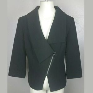 The Limited Sz L Asymmetrical moto Jacket Blazer